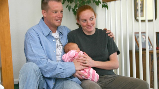 PHOTO: David and Tiffany O'Shell of Henderson, Colo., with their daughter, Alyssa.