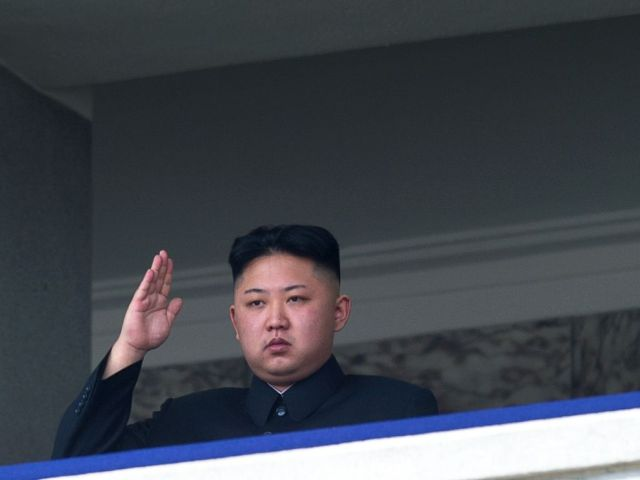 PHOTO: North Korean leader Kim Jong-Un salutes as he watches a military parade to mark 100 years since the birth of the countrys founder and his grandfather, Kim Il-Sung, in Pyongyang on April 15, 2012.