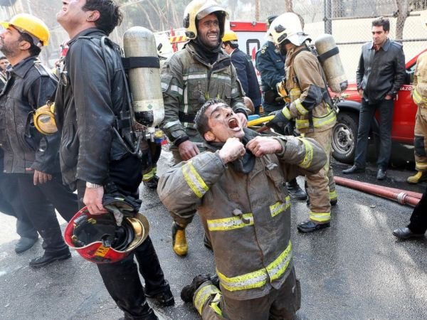 Iran Shocked by Deadly Fire, Collapse of Tehran High-Rise ...