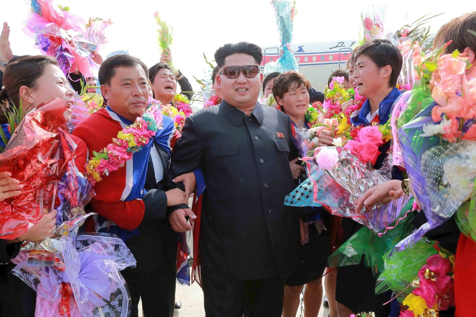 Image result for kim jong un celebrating