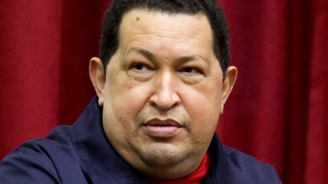 PHOTO: Venezuela's President Hugo Chavez speaks during a televised program from the Miraflores presidential palace in Caracas, Venezuela on April 11, 2012.