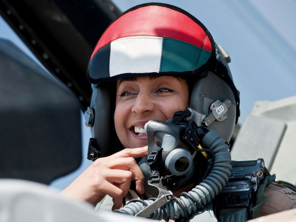 PHOTO: Mariam Al Mansouri, the first Emirati female fighter jet pilot prepare to take off on June 13, 2013 in United Arab Emirates.