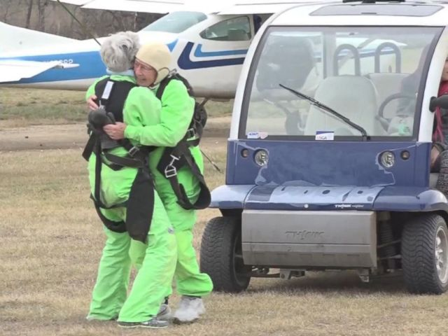 PHOTO: Texas man Al Blaschke skydived on Jan. 4, 2017, to celebrate his 100th birthday.