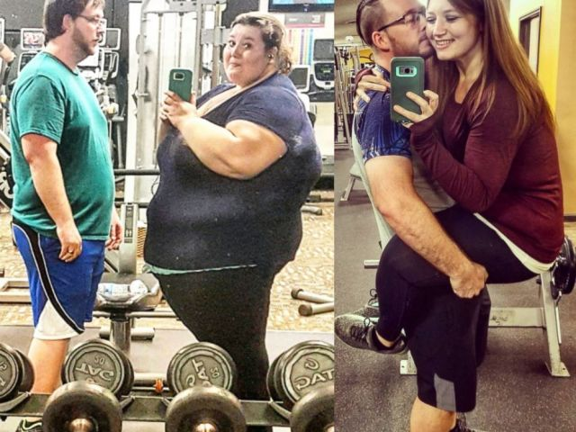 PHOTO: lexi and Danny Reed enjoy their rigorous workouts during their weight loss journey.