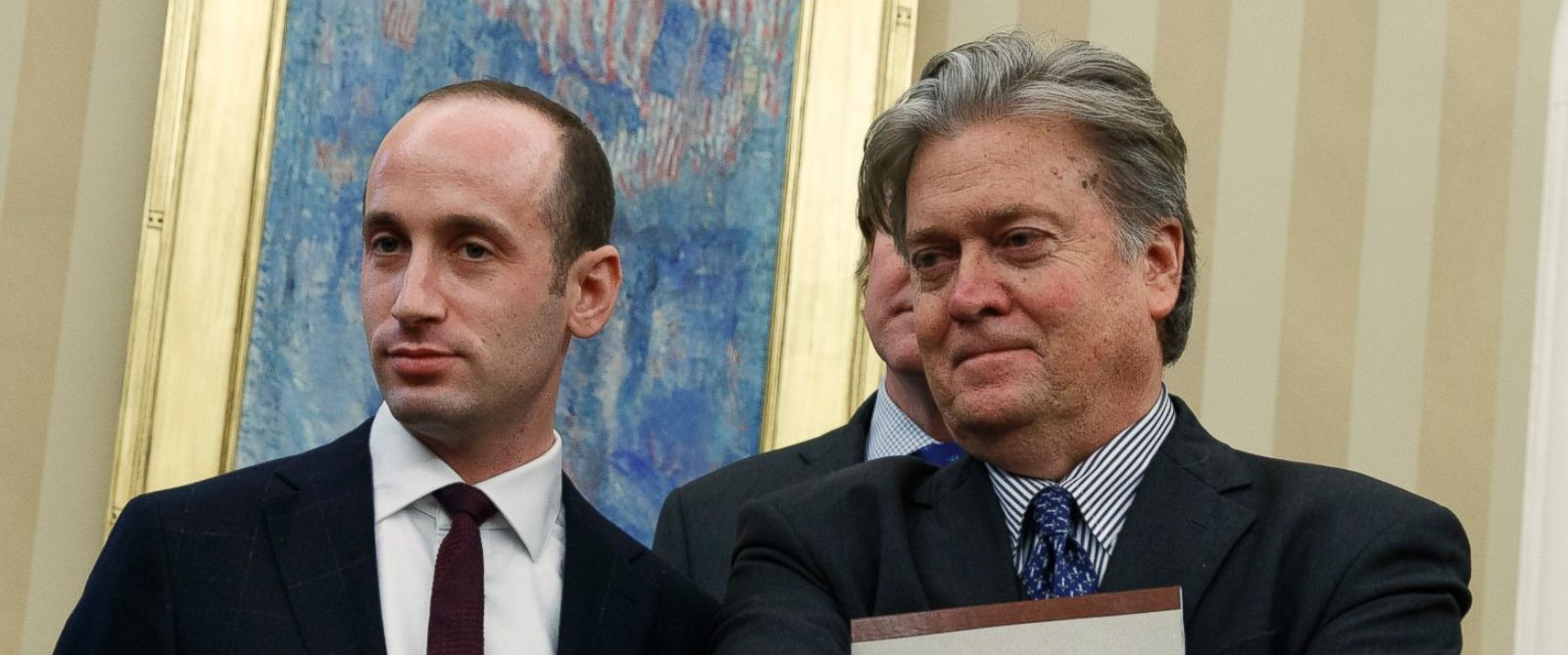 Image result for images of Steven Bannon and Miller