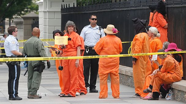 AP guantanamo protest white house jef 130626 16x9 608 Protester Arrested After Jumping White House Fence