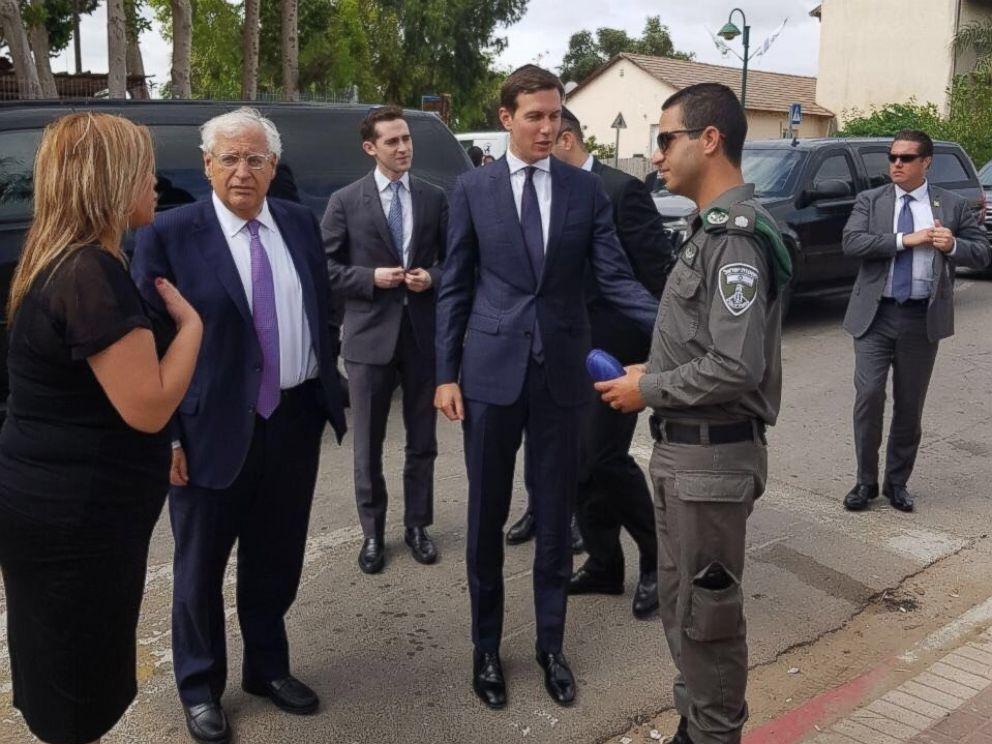 Image result for photos of jared kushner in jerusalem with Israeli leaders