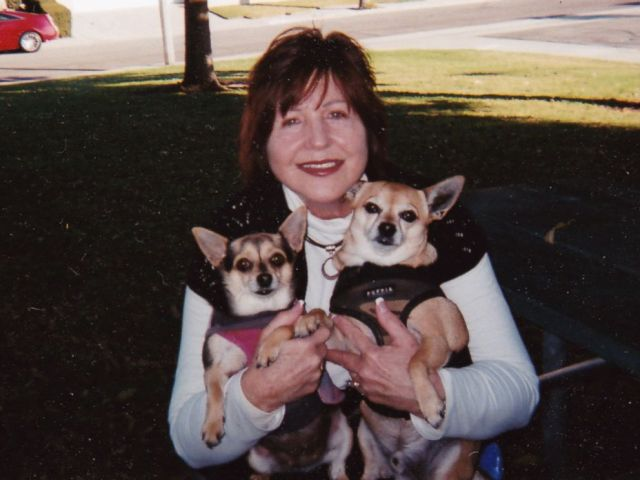 PHOTO: Marcy Shelton poses for a photo at home with her dogs in an undated handout photo.