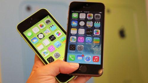 Modelos 5C e 5S do iPhone da Apple