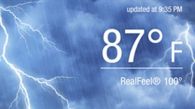 Accuweather is available for the iPhone and Android.
