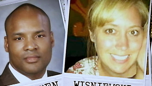 PHOTO: Dr. Timothy V. Jorden, left, is wanted in connection to the death of his one-time lover, Jackie Wisniewski, 33, a nursing student.