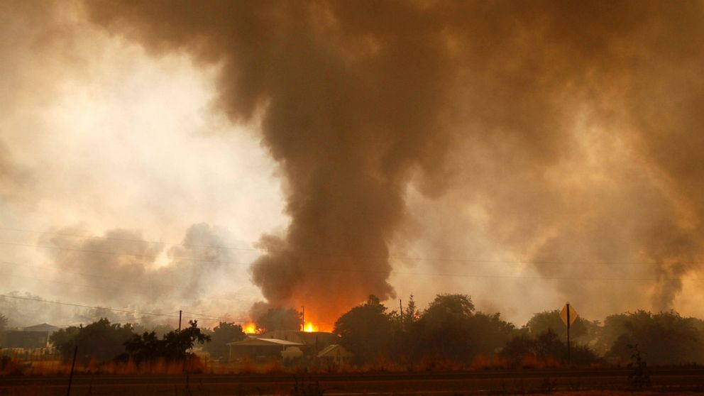 A wildfire destroys homes in the Glenn Ilah area near Yarnell, Ariz., June 30, 2013.