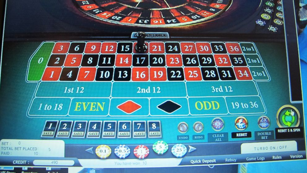 PHOTO: A computer screen in Atlantic City, N.J., shows an Internet roulette game in which the ball landed on No. 18 on the Partypoker website, Nov. 19, 2013.