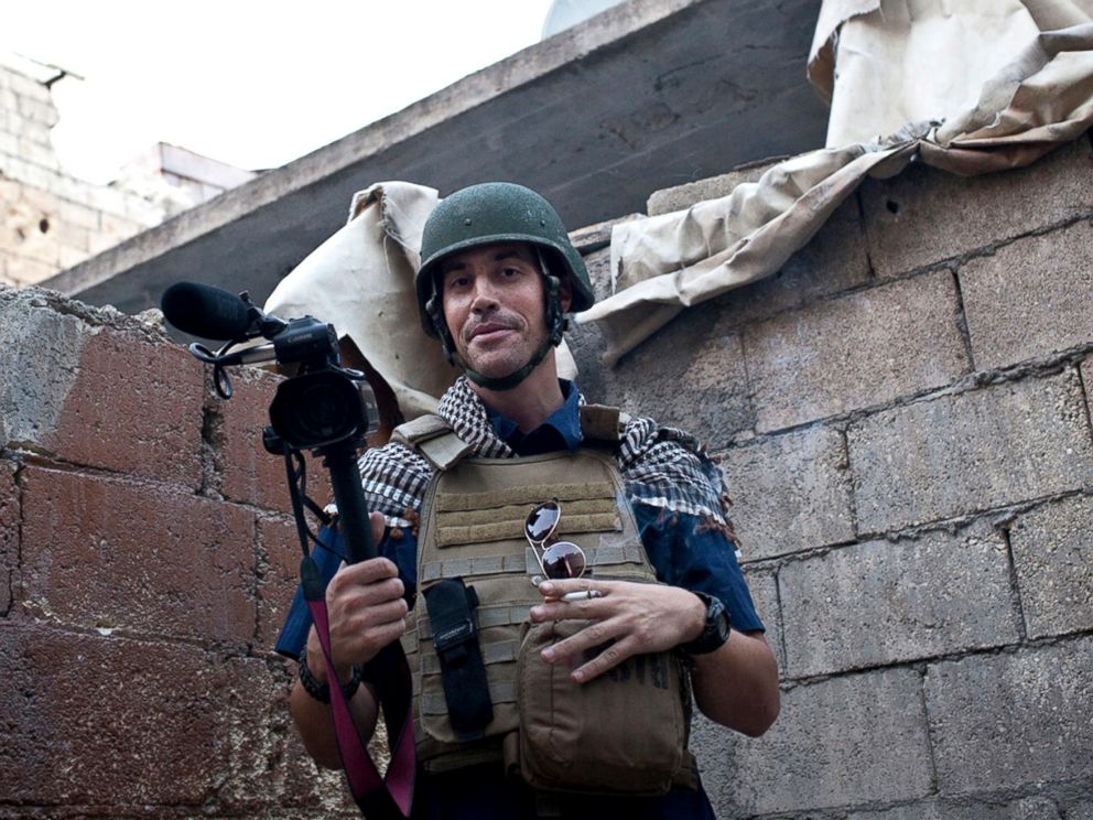 PHOTO: A November 2012 file photo shows journalist James Foley while covering the civil war in Aleppo, Syria. The Islamic State group released a video on Aug. 19, 2014, showing a jihadi beheading Foley, a 40-year-old journalist from Rochester, N.H.