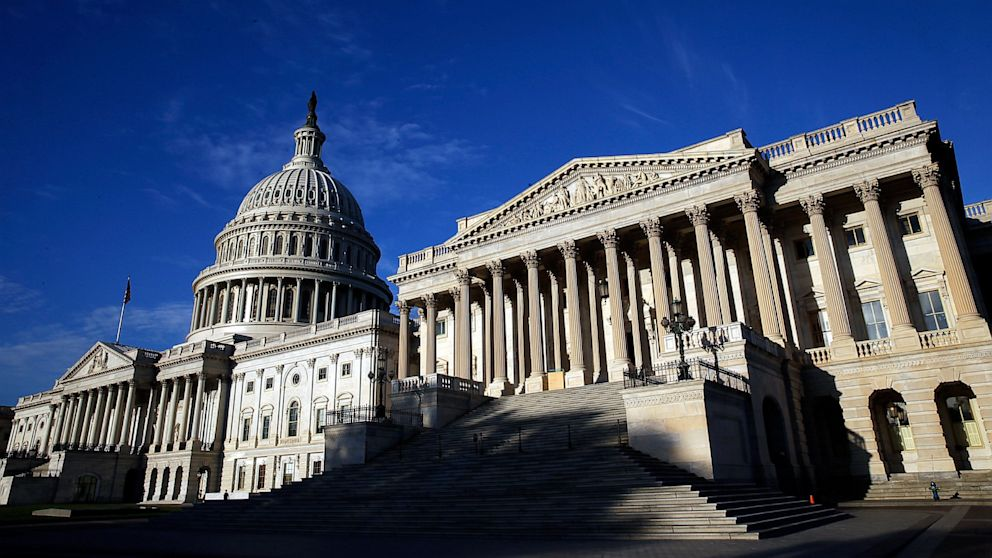 PHOTO: A view of the U.S. Capitol as the U.S. Congress remains gridlocked over legislation to continue funding the federal government Sept. 30, 2013, in Washington.