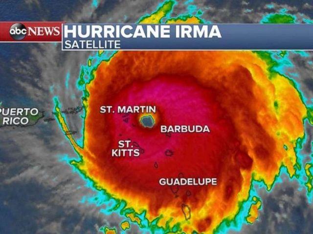 Hurricane Irma as seen on satellite imagery on the morning of Sept. 6, 2017.