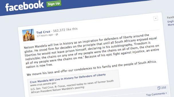 HT ted cruz mandela status nt 131206 16x9 608 Ted Cruz Criticized for Praising Nelson Mandela