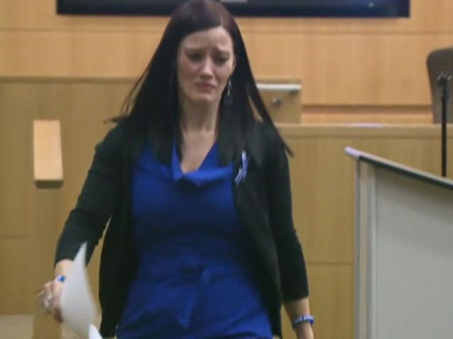 PHOTO: Tanisha Sorenson, Travis Alexanders sister, spoke at Jodi Arias sentencing hearing on April 13, 2015.