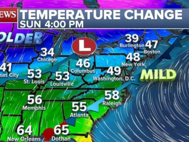 PHOTO: Mild temperatures are in store for the Northeast Sunday.