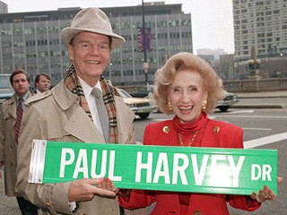 Paul Harvey astride Paul Harvey: Good day!