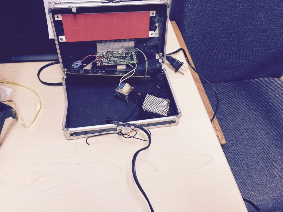 Picture of Ahmed Mohamed's clock project