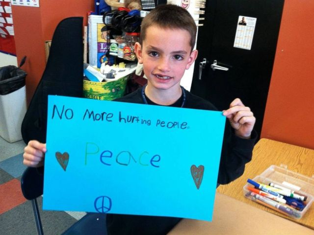 PHOTO: 8-year-old Martin Richards photo and message went viral following his death in 2013.
