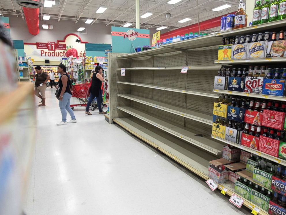 Image result for photos of puerto rico getting ready for disaster