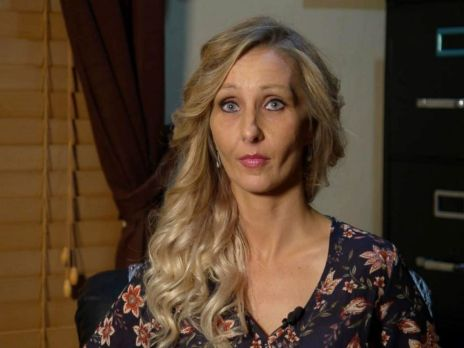 PHOTO: Kristina Crews Miller discusses how she fell into opioid addiction in an interview with ABC news on Sept. 25, 2017.
