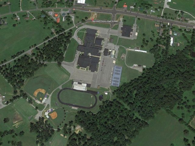 PHOTO: Google Earth image of Marshall County High School, Jan 23, 2018, in Benton, Ky.