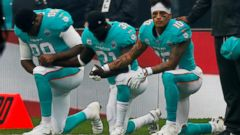 miami dolphins kneeling protest 2 rt jt 171001 16x9t 240 - NFL players kneel during anthem at London game