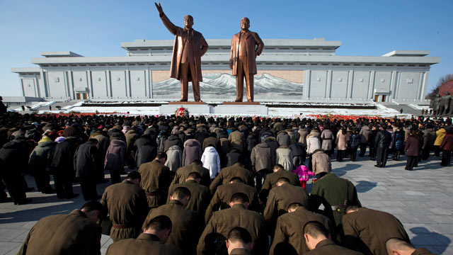 Image result for north koreans worshipping kim