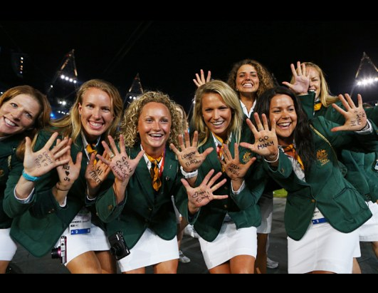 Australian athletes at the Opening Ceremony