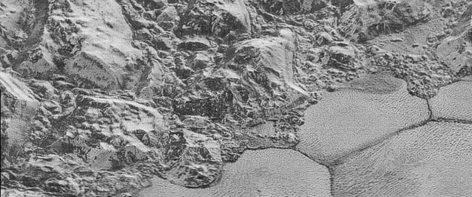 PHOTO: New Horizons sent back a close-up of Plutos surface.