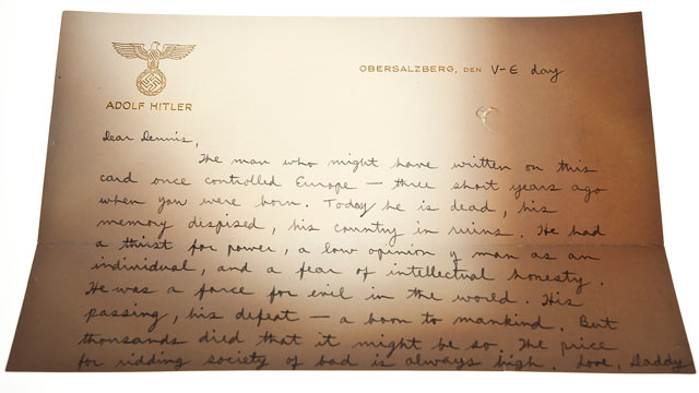 ht helms letter 1 tk 111101 wmain Intelligence Operatives Letter, Sent to Son on Hitlers Stationery