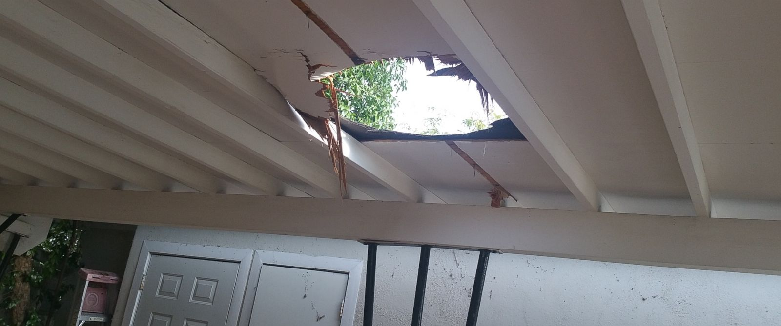 PHOTO: A 23-pound package of marijuana crashed through the roof of a carport at a home in Nogales, Ariz. on Sept. 8, 2015.