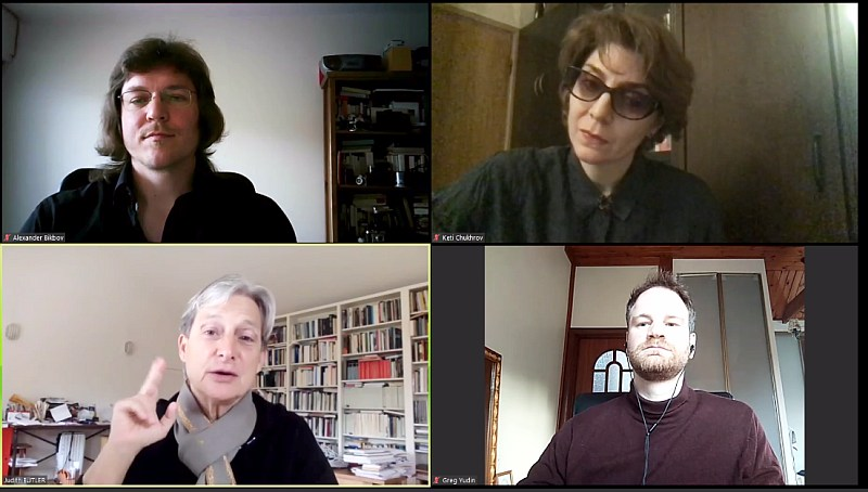 "Discussion ""Political Action beyond Co-presence"" with Judith Butler, Keti Chukhrov and Alexander Bikbov, moderated by Grigory Yudin (MSSES, April 18, 2020)"