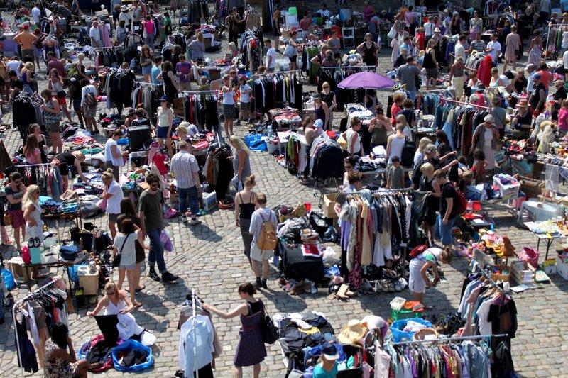 Mercado de pulgas, Copenhague.