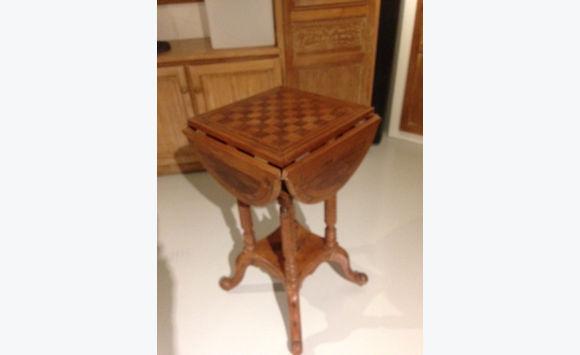 table ancienne de jeu meubles et