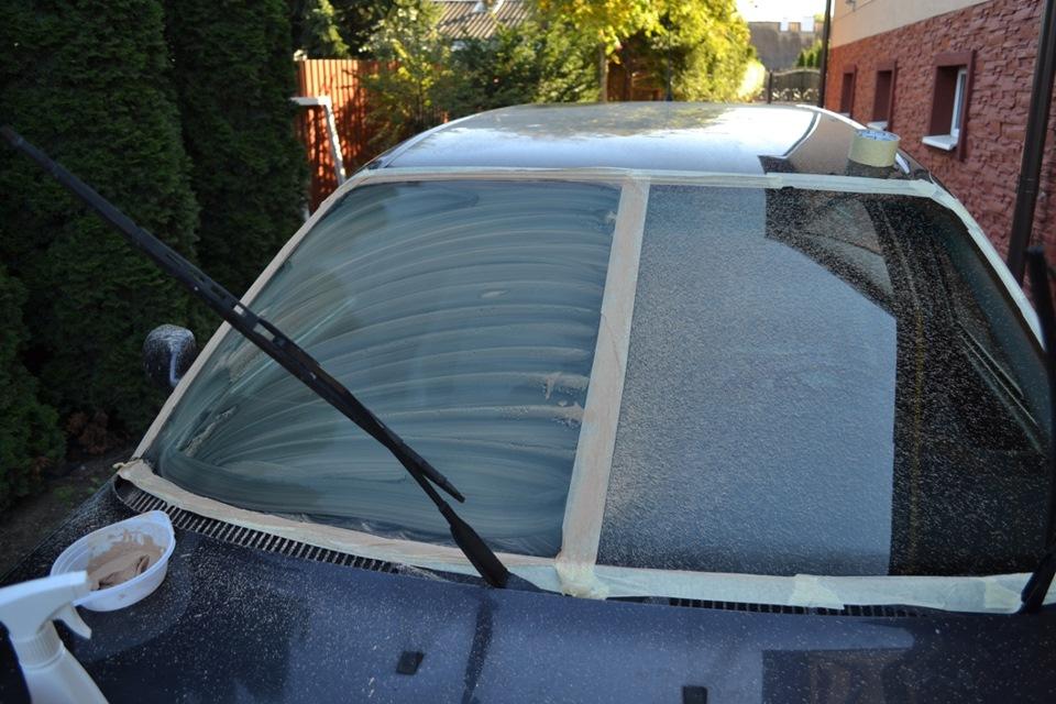 Полировка лобового стекла. — Audi A6, 2.6 л., 1997 года на DRIVE2