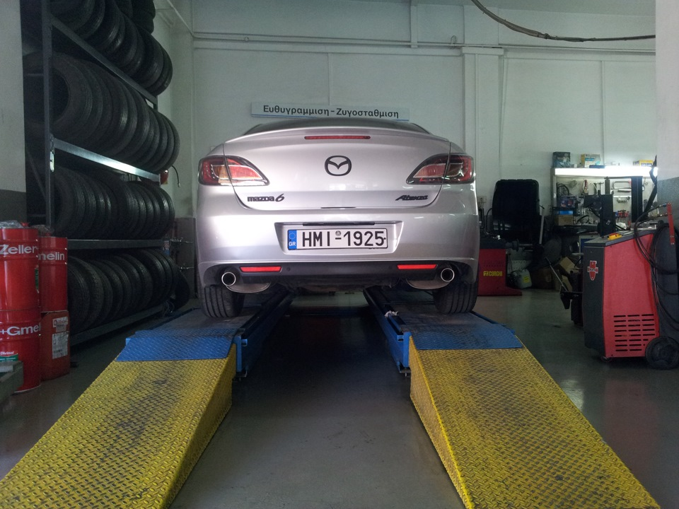 2 0 exhaust system on a 1 8 mazda 6