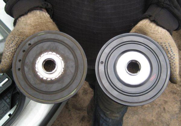 Замена шкива коленвала и обгонной муфты генератора