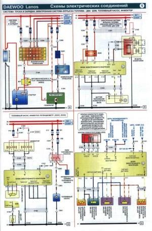 Pinout of Lanos ECU and wiring diagrams — logbook Daewoo