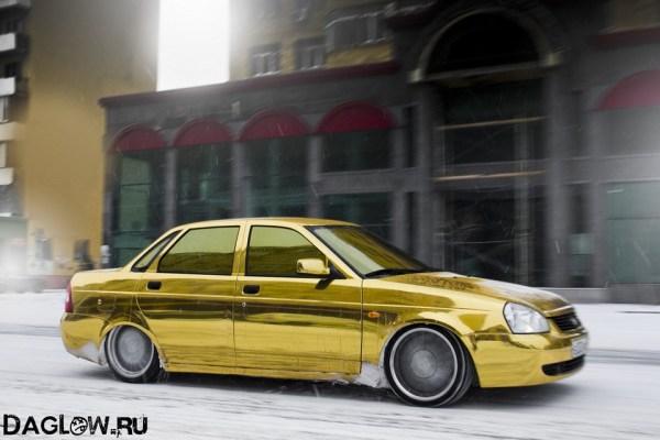 Золотая Приора Фото