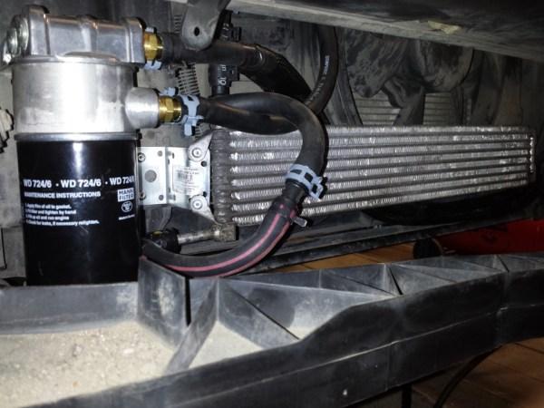Дополнительное охлаждение АКПП внешний фильтр масла