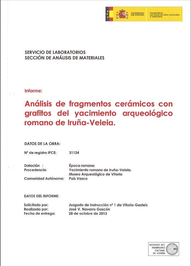 IPCE Iruña Veleia Jose Vicente Navarro