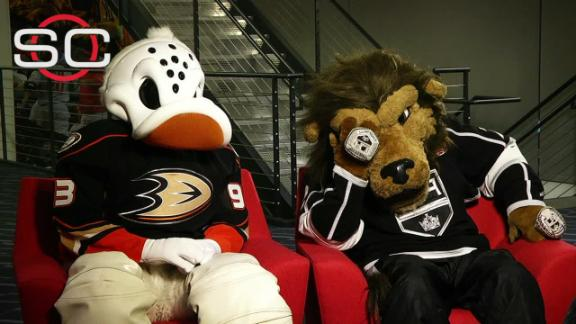 Getting to know rival mascots Wild Wing & Bailey - ESPN ...