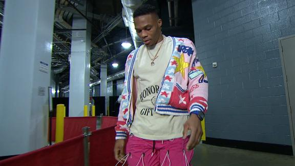 Westbrook arrives in style fresh off his birthday