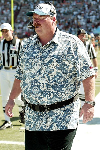 Image result for andy reid hawaiian shirt pro bowl