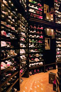 Johnson's shoe closet