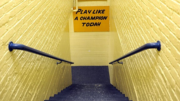 Notre Dame PLAY LIKE A CHAMPION TODAY Sign